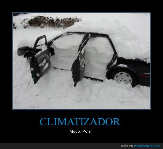 climatizador,coche,frío,nieve,polar