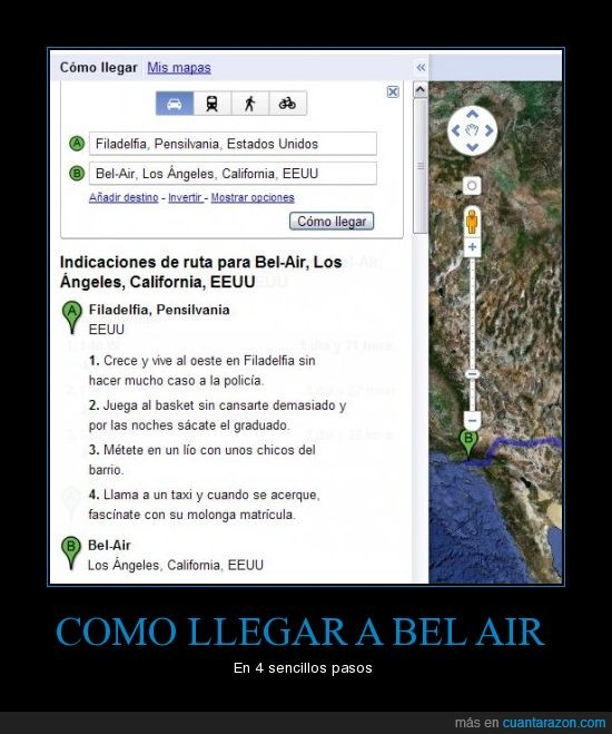 como llegar,google earth,principe bel air