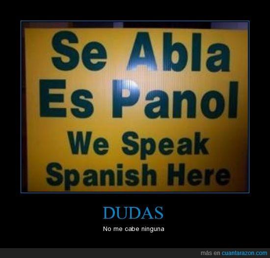 dudas,español