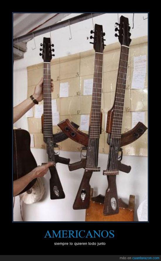 ak-47,ametralladora,ametrarra,guitarra