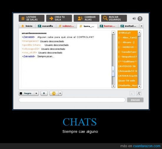Chats,control+w,Fail,Inutiles