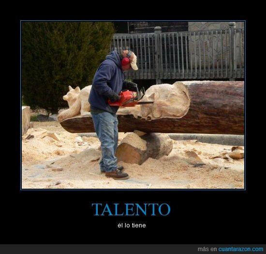 escultura,madera,talento