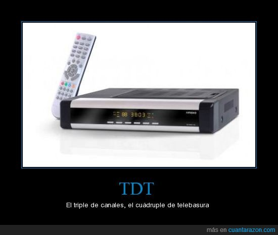 canales,TDT,telebasura