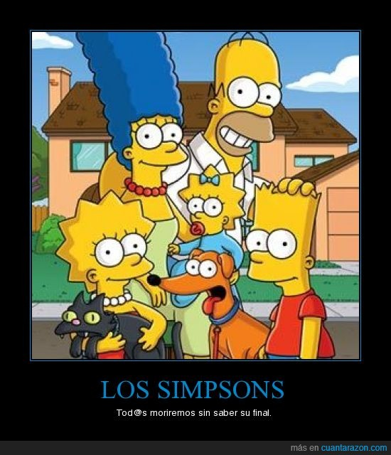 eterno,final,infinito,los simpsons