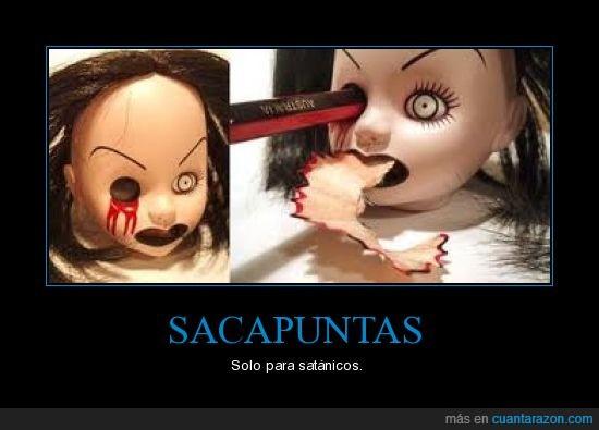 Lápiz,Sacapuntas,Satánicos