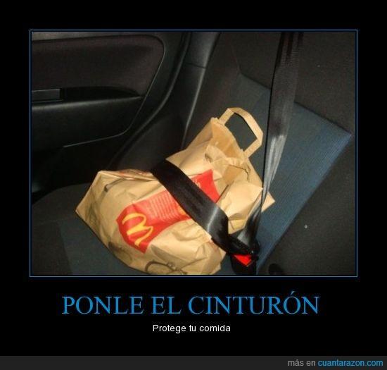 bolsa,cinturon,comida