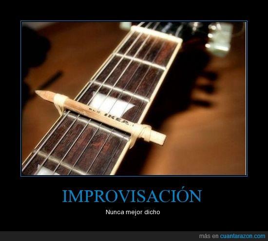 guitarra,ikea,lápiz,música