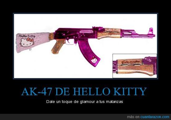 ak-47,ametralladora,armas,hello kitty,wtf