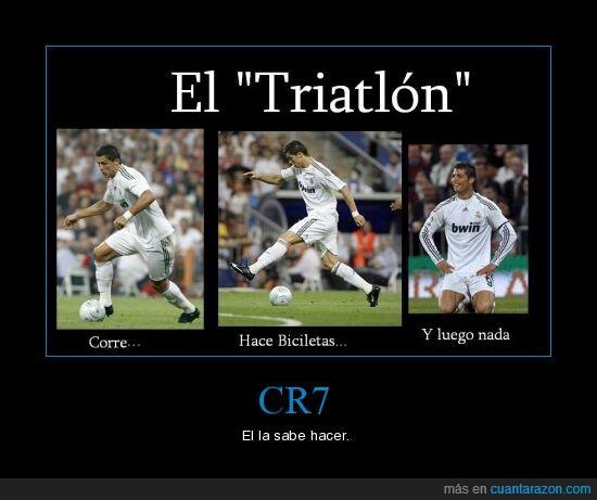 bicicleta,corre,cr7,nada,triatlon