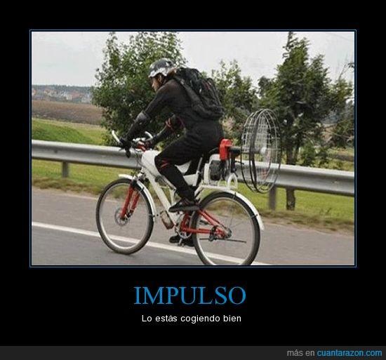 bici,impulso,ventilador
