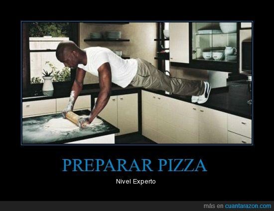 cocina,flexiones,pizza,preparar