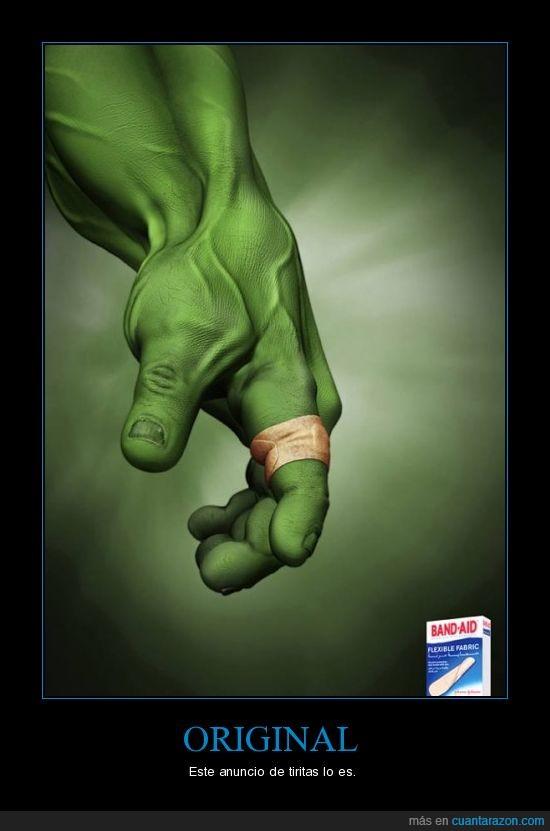 anuncio,herida,hulk,tiritas