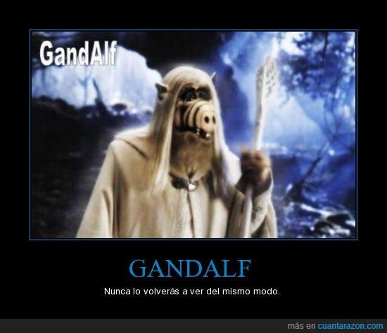 alf,el señor de los anillos,friki,gandalf