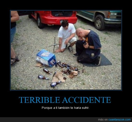 accidente,cerveza