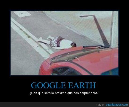 atropello,google earth