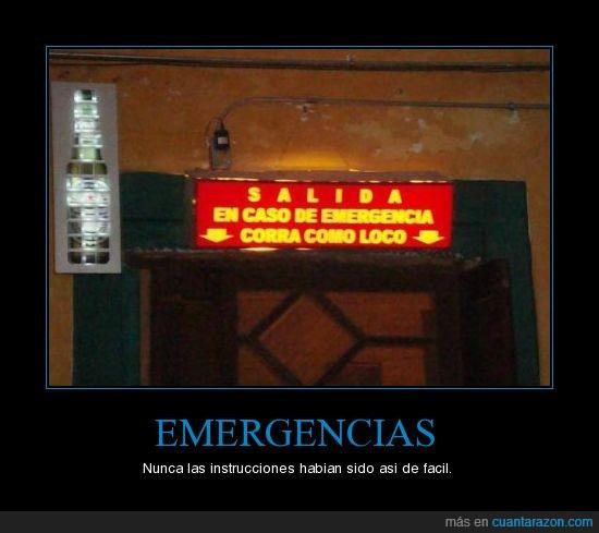 emergencia,instrucciones,salida