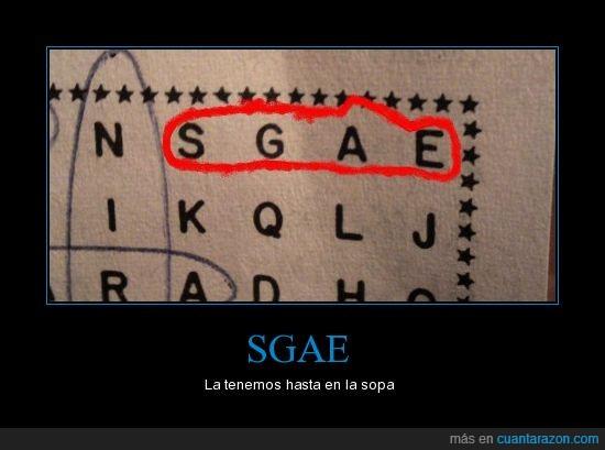 SGAE,sopa de letras