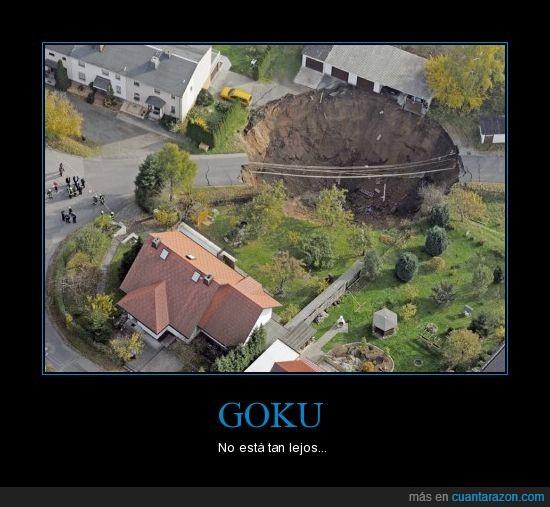 agujero,carretera,Goku