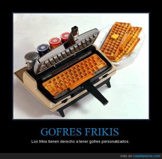 friki,gofre,teclado