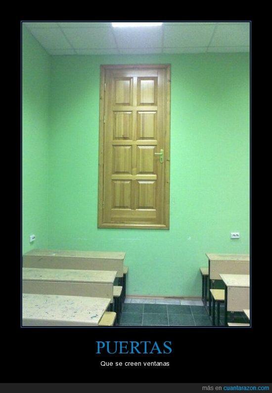 clase,elevada,puerta,ventana
