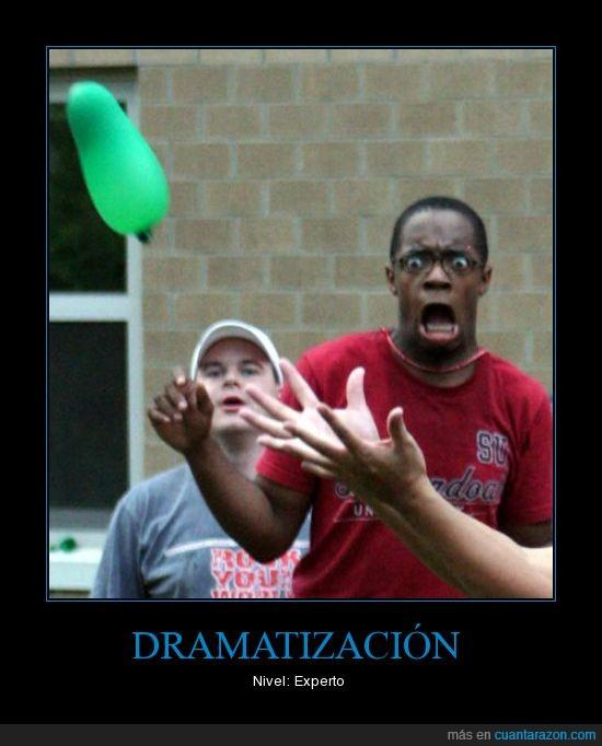 dramatización,globo de agua