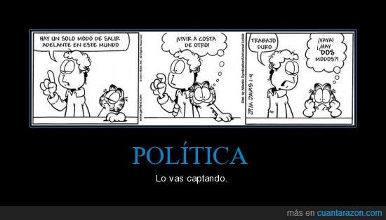 garfield,política