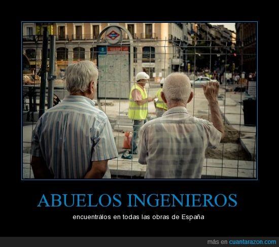 abuelos,ingenieros,obras