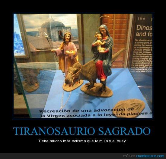 Belén jurásico,Judas estaba celoso porque solo tenía una burra,Navidad,Tiranosaurio