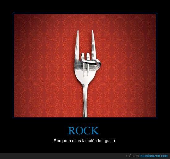 cubiertos,gustar,rock