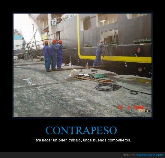 barco,contrapeso,equilibrio,obreros
