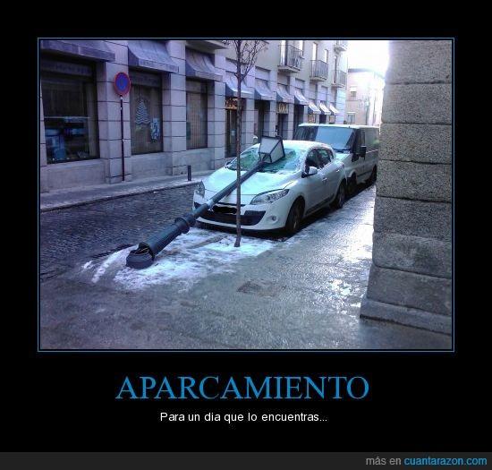 aparcamiento,coche,farola