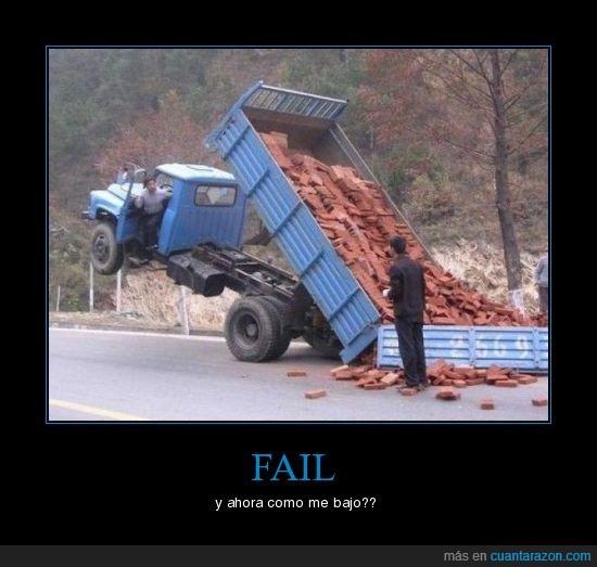 bajar,camion,tochos