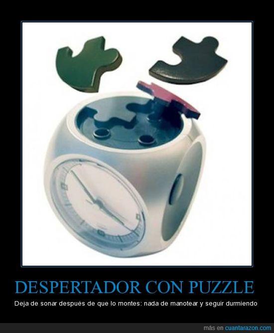 despertador,dormir,puzzle