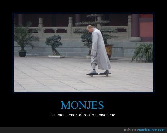 diversion,monjes,Patineta