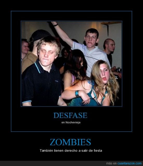 noche,salir de fiesta,zombies