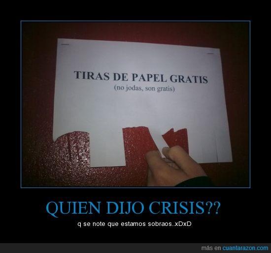 CRISIS,GRATIS,PAPEL