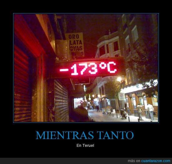 frio,termometro,teruel