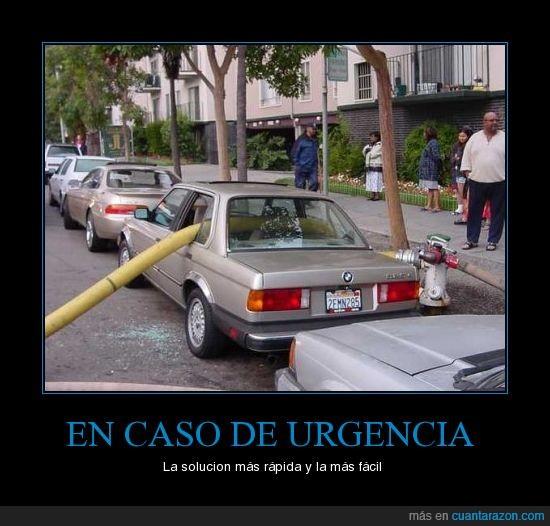 bomberos,coche,rotas,urgencia,ventanas