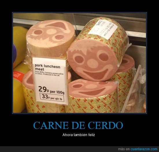 cerdo,feliz,jamón,mortadela,sonrisa