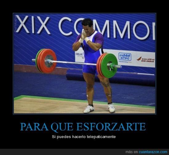 atleta,halterofília,pesas,telepatía