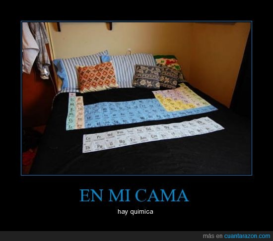 cama,colcha,química