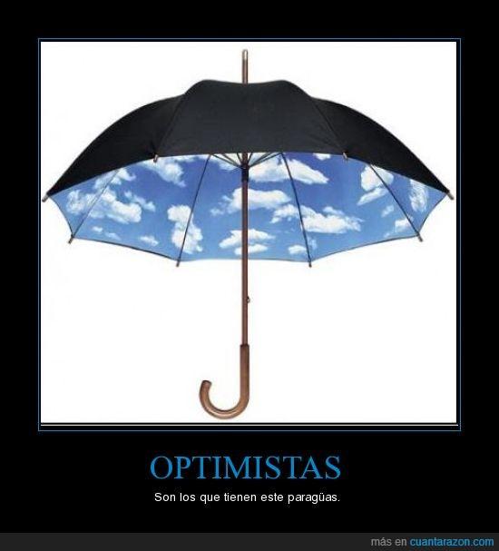cielo,optimistas,paraguas