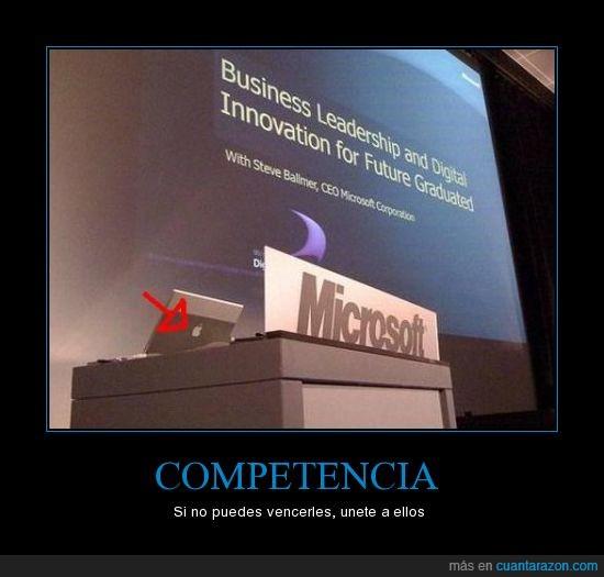 apple,competencia,computer,microsoft,ordenador,presentacion,rivalidad