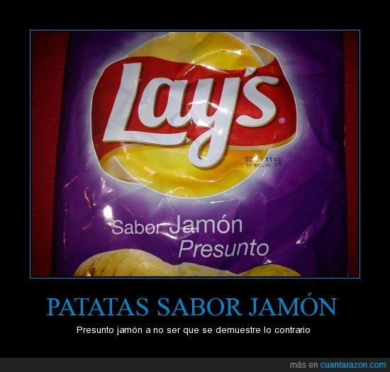 jamon,patatas,presunto
