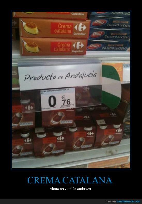 andalucia,crema catalana,supermercado