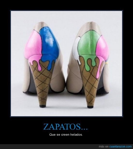 helados,tacón,zapatos