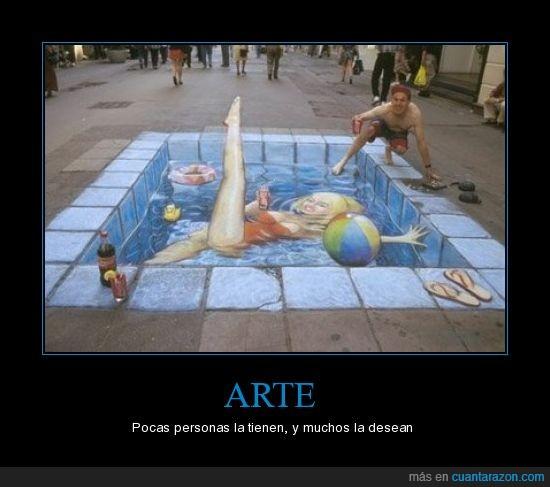 arte,perspectiva,pintada,suelo