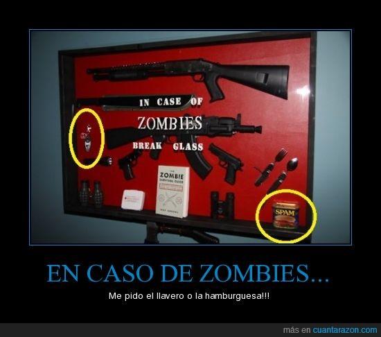 cristal,hamburguesa,llavero,zombies