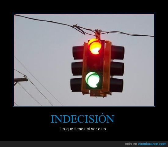 fail,indecision,luces,roja,semáforo,verde