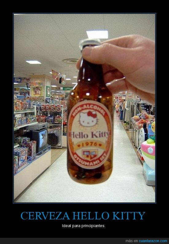 cerveza,hello kitty